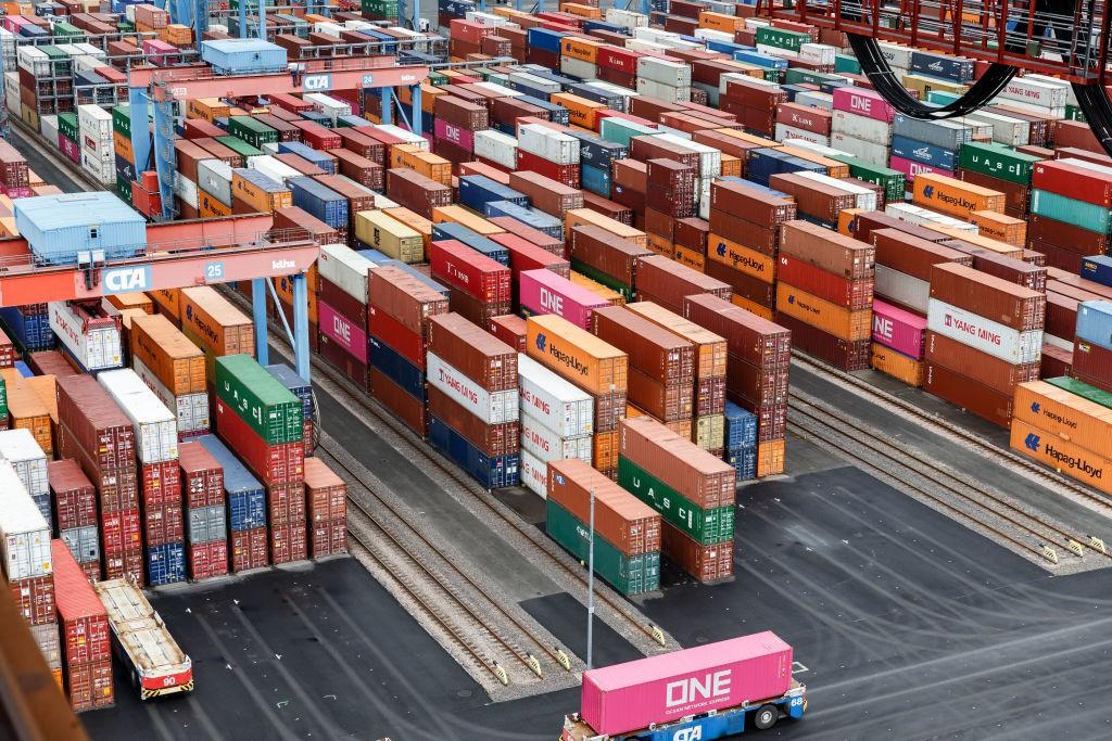 Container in Altenwerder